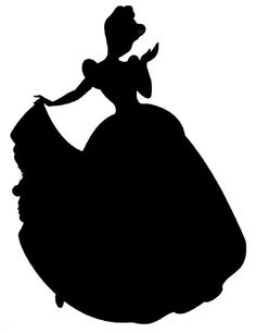 Princess clipart silhouette Google disney Silhouettes Room would