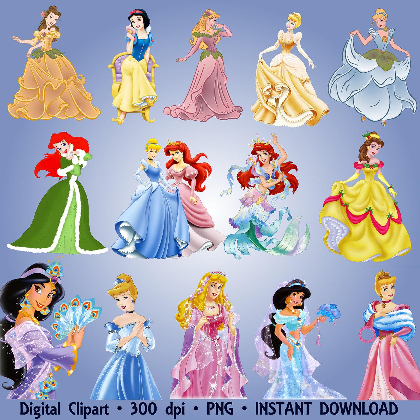Princess clipart snow white Printable White PNG Set 300dpi