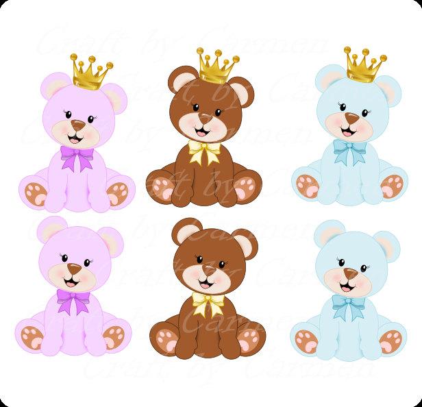 Small clipart prince Princess bear Teddy bear Teddy