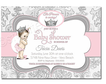 Princess clipart vintage Baby princess Shower Shower Girl