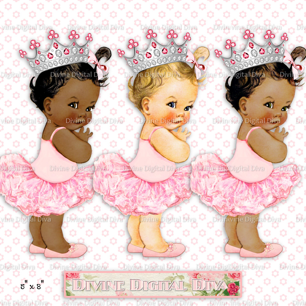 Princess clipart vintage Is Baby Ballerina file digital