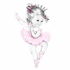 Princess clipart vintage Boy Ballerina Vintage una Sua