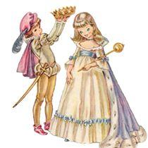 Princess clipart vintage Clip Set Art Vintage Free