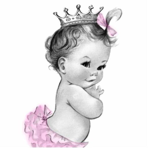 Princess clipart vintage Lavender Shower Princess shower girl
