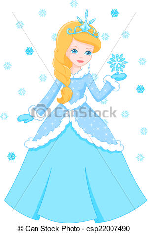 Winter clipart princess EPS princess holds Winter Vector