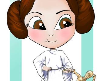 Princess Leia clipart / / Leia A4 Star
