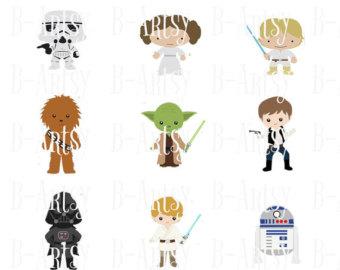 Luke Skywalker clipart princess leia Han Boba circles wars Solo