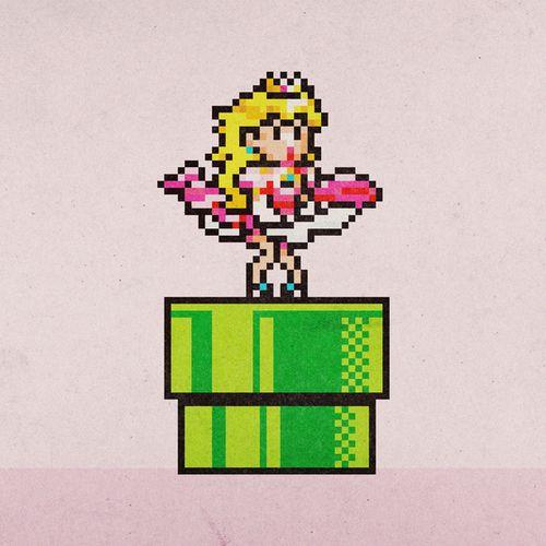 Princess Peach clipart 16 bit On Pinterest mario Peach and