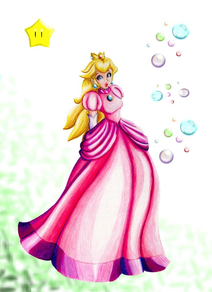 Princess Peach clipart 16 bit About Princess Art Pinterest images