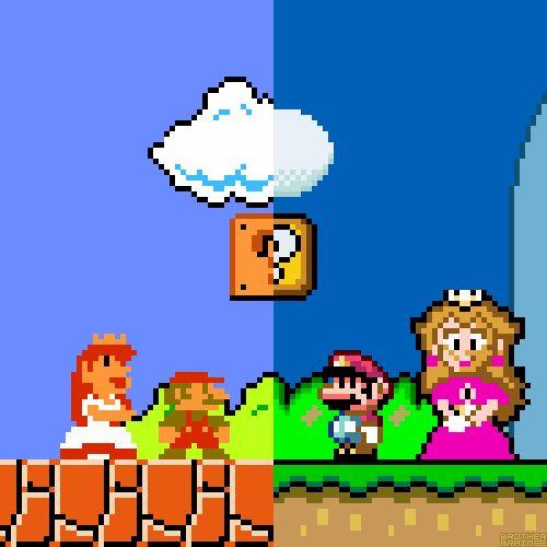 Princess Peach clipart 16 bit Mario WorldSuper Bros16 images Pinterest