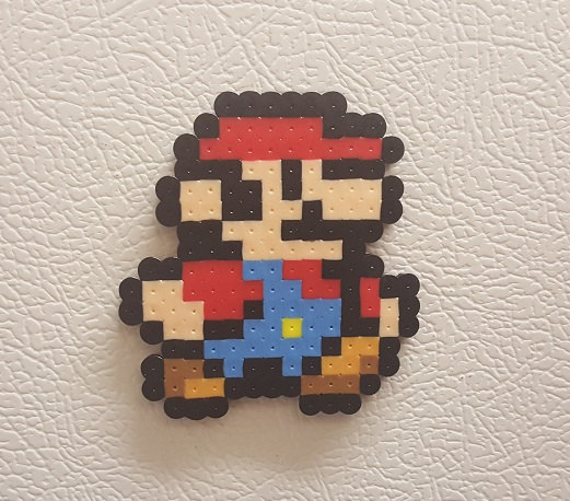Princess Peach clipart 8 bit Pixel bead art Mario