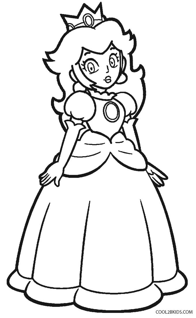 Princess Peach clipart coloring page Picture Pages Coloring Pages Book