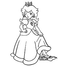 Princess Peach clipart coloring page Coloring go Girl Peach' For