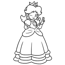 Princess Peach clipart coloring page Your 25 For Girl
