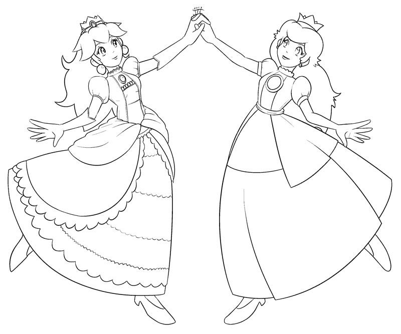 Princess Peach clipart coloring page Peach Princess And Pages 4