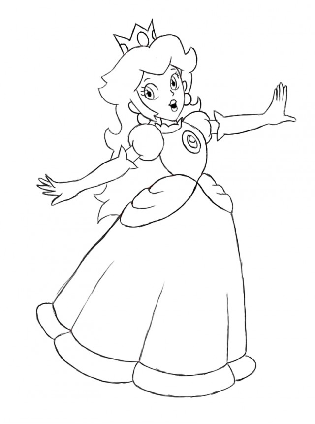 Princess Peach clipart coloring page Coloring Coloring Pages Peach Princess