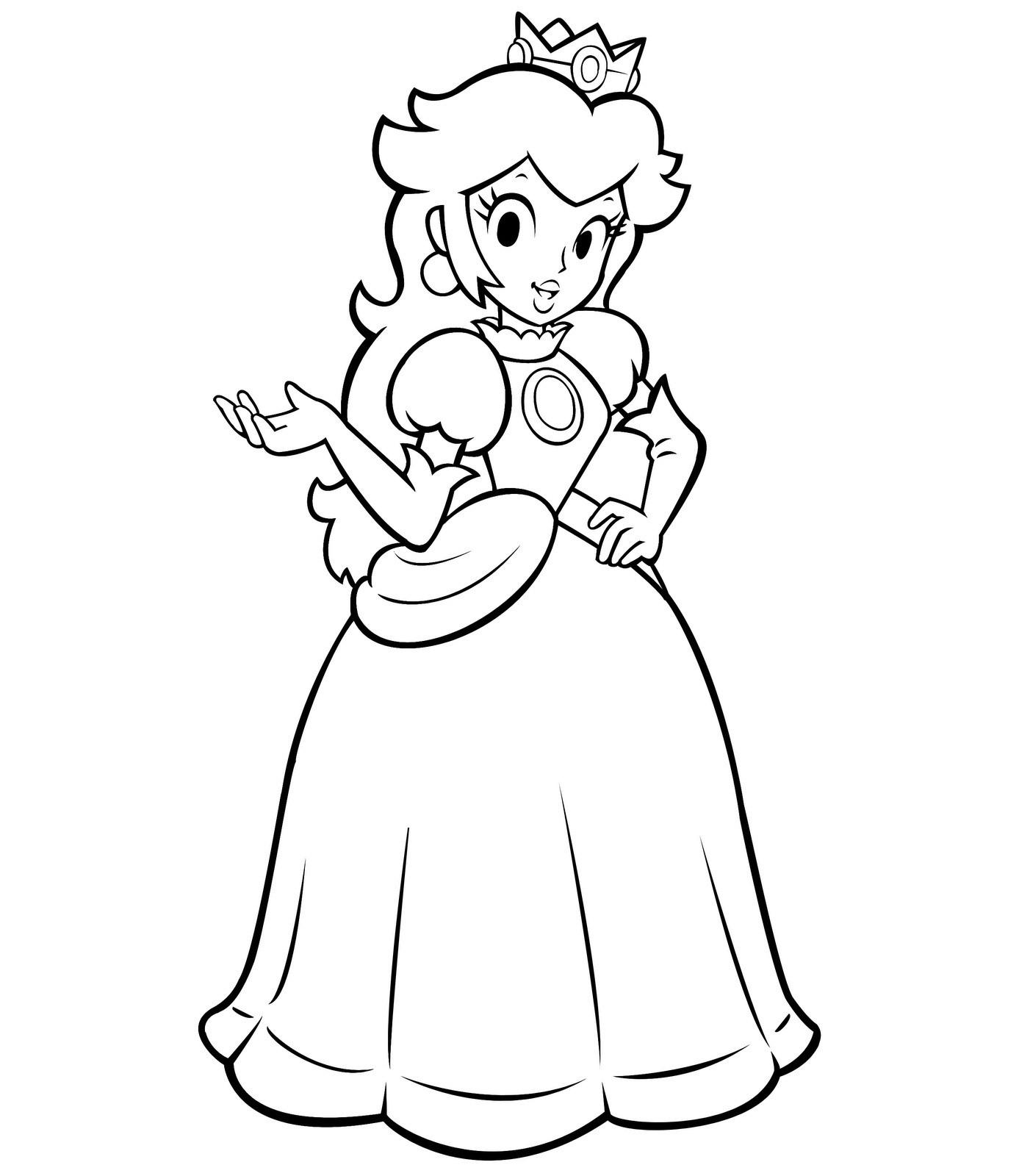 Princess Peach clipart coloring page Kawaii  Pages out food