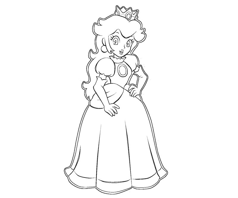 Princess Peach clipart coloring page Peach Princess And Pages 1