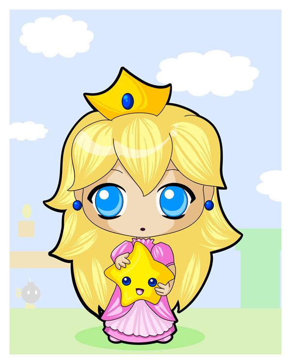 Princess Peach clipart kitty By Chibi Princess TiffanySketches on