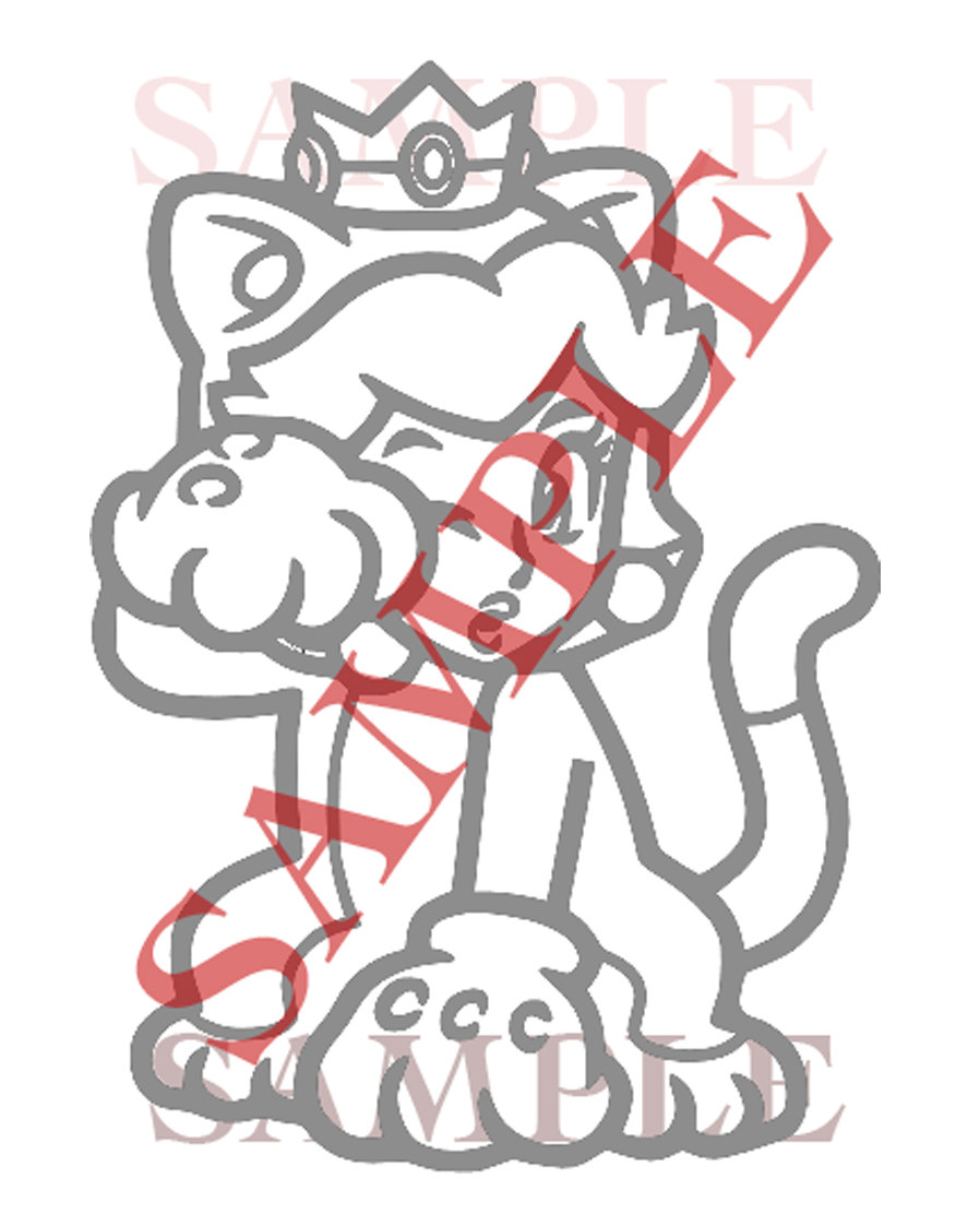 Princess Peach clipart kitty Window Mario Cat World Vinyl