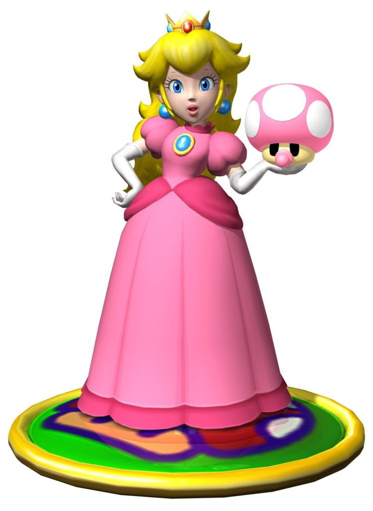 Princess Peach clipart mario party 9 Character PeachMario bit it taking