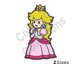Princess Peach clipart old school Design Embroidery Princess Princess Machine