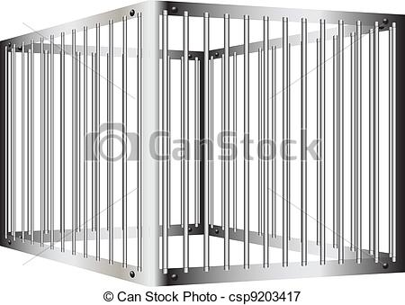 Bar clipart cage  Vectors of with bars