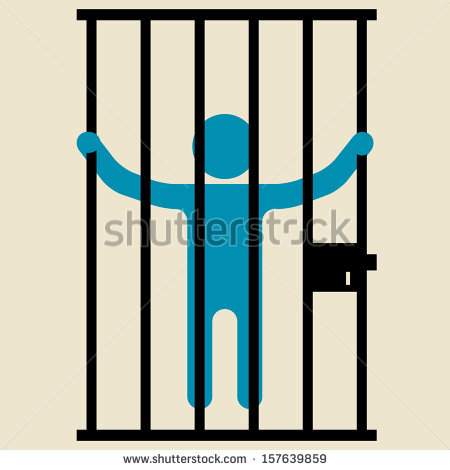 Prison clipart person Jail bars Royalty Man collection