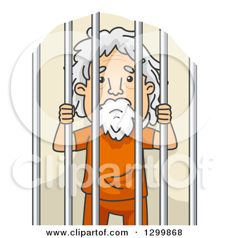 Prison clipart person Clipart jail in man in