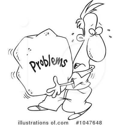 Problem clipart black and white Clipart by Problem #1047648 Royalty