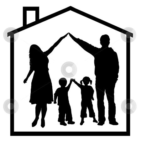 Problem clipart family problem Family stock vector Family