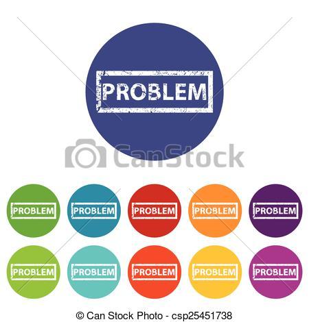Problem clipart icon Icon flat Problem Vectors of