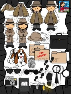 Problem clipart kid detective On magnifying tongassteacher glass detective's