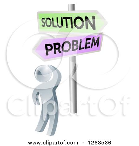 Problem clipart person Art 20clipart of blue Solution