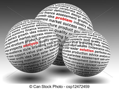 Problem clipart problem definition Illustrations Stock problem balls with