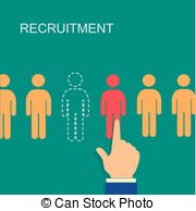 Problem clipart recruitment Vector Illustrations infographics resource Recruitment
