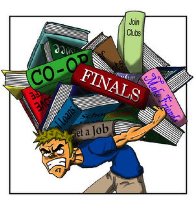 Desk clipart school stress Clip Problem Stress Clipart Art