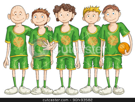 Problem clipart team player Basketball stock vector Team Team