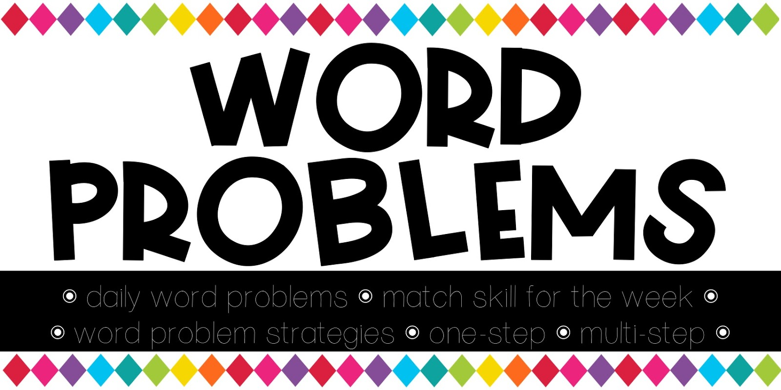 Word clipart problem Teaching daily be word can