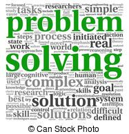 Word clipart problem White solving on  Problem
