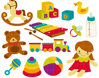Baby clipart baby toy Crafts Clip Card Etsy Art