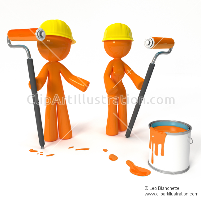 Paint clipart professional painter Man Project and ClipArt of