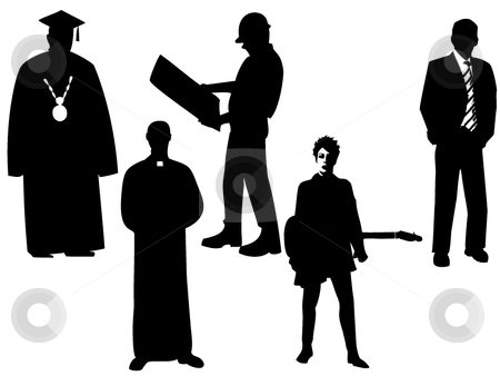Professional clipart black and white Professions of Silhouettes professions Silhouettes