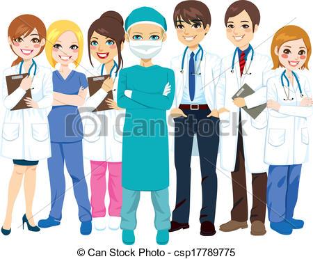 Professional clipart hospital staff #1
