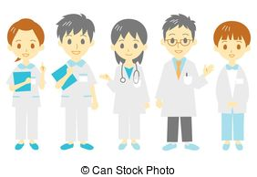 Professional clipart hospital staff Medical  3 staff vector