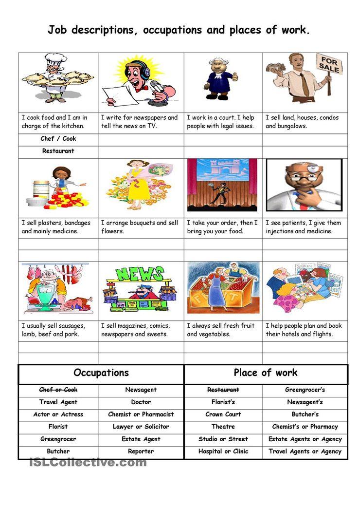 Treatment clipart job description Work on description occupations Pinterest