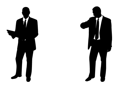 Shadow clipart male office worker #5