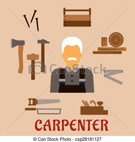 Professional clipart stock With professional tools Vector Illustration