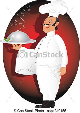 Professional clipart stock  Vector of chef Vector