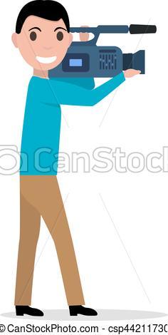 Professional clipart stock Vector videographer Vectors Vector cartoon